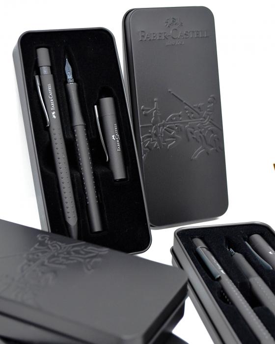 Set Stilou & Pix Grip 2011 All Black Faber-Castell [5]