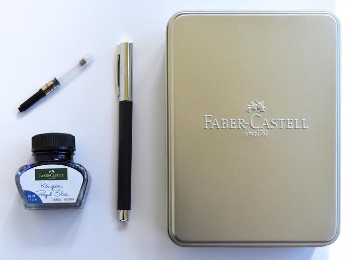 Stilou Ambition Precious Resin Negru + calimara + convertor Faber-Castell [4]
