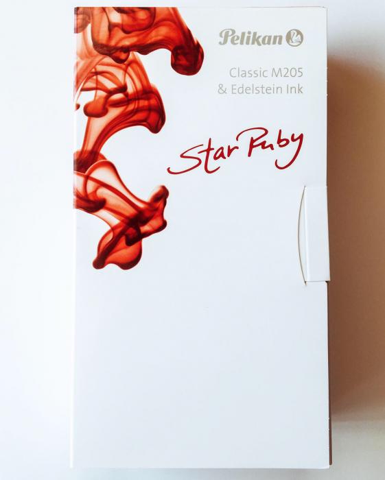 Stilou Classic M205 DUO Star Ruby Pelikan + Cerneala Edelstein Star Ruby 5