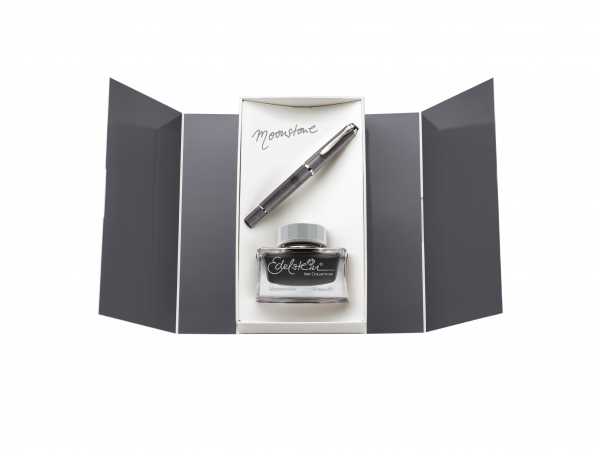 Stilou Classic M205 Moonstone Pelikan + Cerneala Edelstein Moonstone 50ml 0