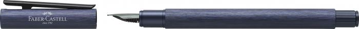 Stilou Neo Slim Aluminium Albastru Faber-Castell 1