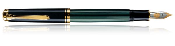 Stilou Souveran M800 Black-Green Pelikan 1