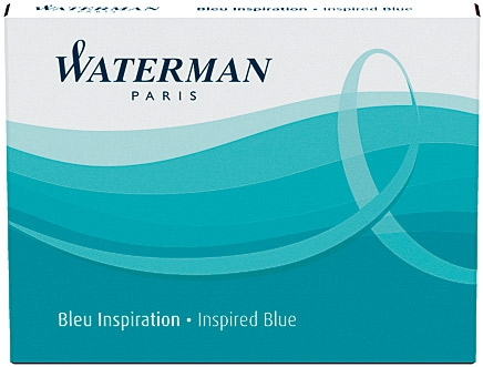 Cartuse Cerneala Waterman Inspired Blue set 8 buc 0
