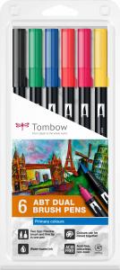 Set 6 Culori Primare Dual Brush Pen Tombow [0]