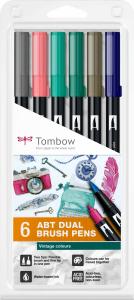 Set 6 Culori Vintage ABT Dual Brush Pen Tombow [0]