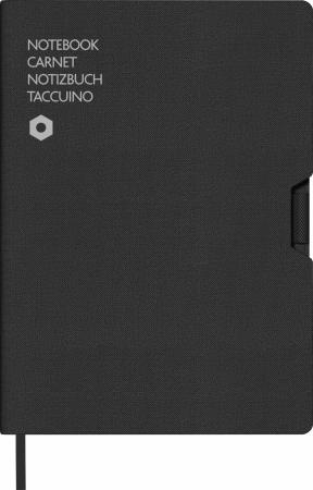 Agenda A5 Canvas Cover Black Caran d'Ache [0]