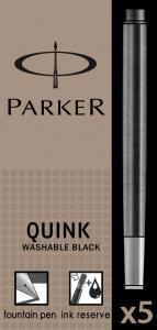 Cartuse Cerneala Parker Quink Washable Black set 5 buc [0]