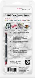 Set 6 Culori Candy Dual Brush Pen Tombow [3]