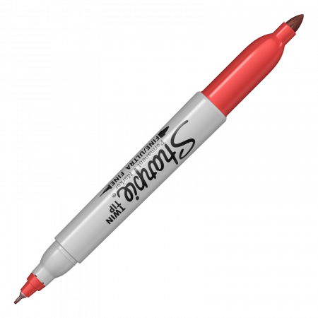 Set 8 Markere Permanente Twin Tip Bullet Sharpie4