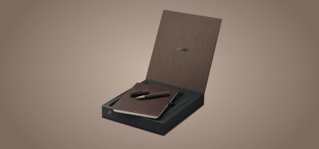 Set Stilou LAMY 2000/01 Brown + Notebook Piele, Editie Speciala 2021 [2]