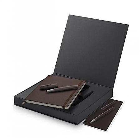 Set Stilou LAMY 2000/01 Brown + Notebook Piele, Editie Speciala 2021 [0]