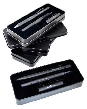 Set Stilou & Pix Grip 2011 All Black Faber-Castell [1]