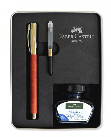 Set Stilou Ambition Pearwood + calimara + convertor Faber-Castell [0]