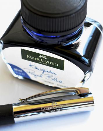 Stilou Ambition Precious Resin Negru + calimara + convertor Faber-Castell [1]