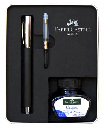 Stilou Ambition Precious Resin Negru + calimara + convertor Faber-Castell [0]