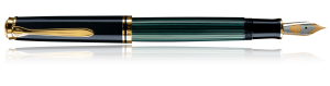 Stilou Souveran M800 Black-Green Pelikan1