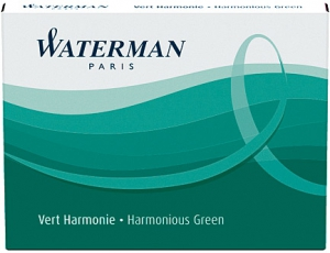 Cartuse Cerneala Waterman Harm Green set 8 buc [0]