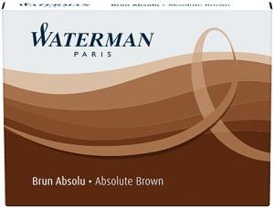 Cartuse Cerneala Waterman Absolute Brown set 8 buc0