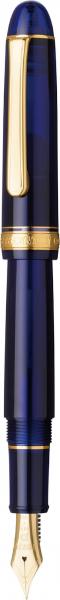 Platinum #3776 CENTURY Chartres Blue M - Penita Aur 14K 6