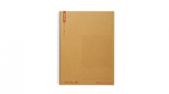 Caiet cu spira MARUMAN N245ES, A4, 80 file, patratele 2