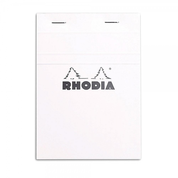 Blocnotes RHODIA No.13, White A6, 80 file, dictando 0