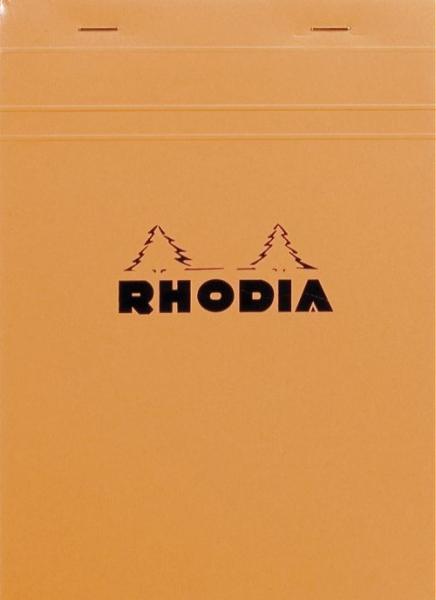 Blocnotes RHODIA No.16, Orange A5, 80 file, patratele 0
