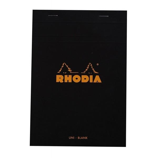Blocnotes RHODIA No.16, Black A5, 80 file, velin 0