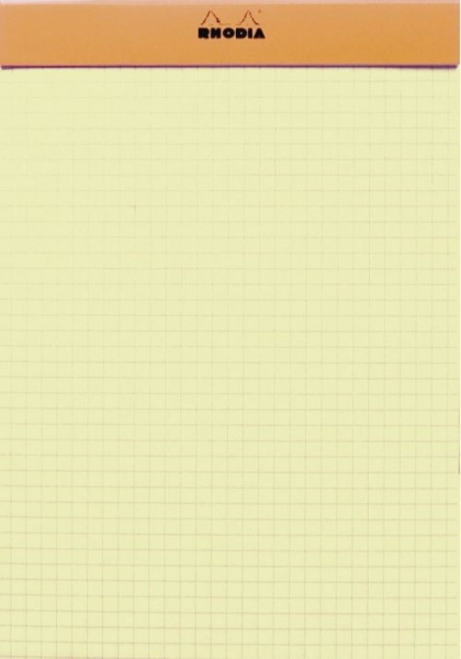 Blocnotes RHODIA No.16, Orange A5, 80 file, foi galbene, patrele 1