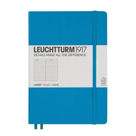 Leuchtturm A5 Dictando, coperta rigida, Albastru Azur 0