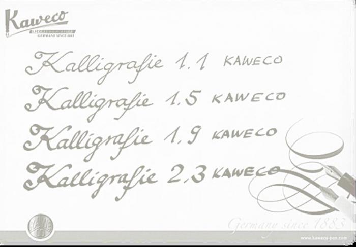 Set Kaweco CALLIGRAPHY Negru (1.1 /1.5 /1.9 /2.3) 1