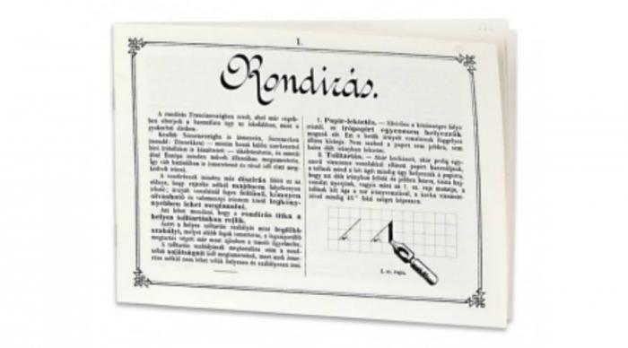 Caiet de exercitii pentru caligrafie (Rondírás / L'écriture ronde) [0]