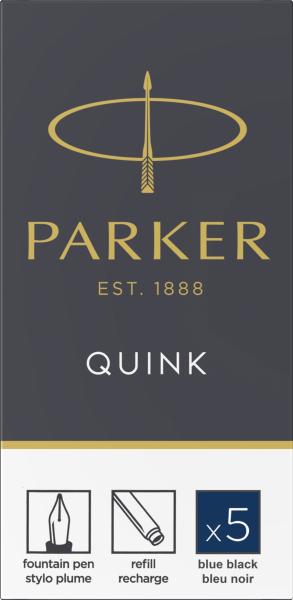 Patroane cerneala lungi Parker Quink Blue-Black, set de 5 buc. 0