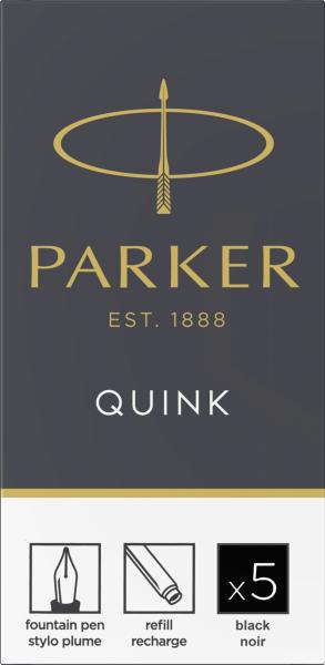 Patroane cerneala lungi Parker Quink Black, set de 5 buc. 0