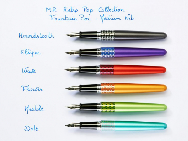 Pilot MR Retro Pop Light Blue & Dots Ring M 1
