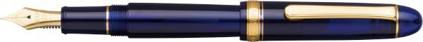 Platinum #3776 CENTURY Chartres Blue M - Penita Aur 14K 0