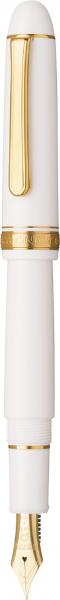 Platinum #3776 CENTURY Chenonceau White F - Penita Aur 14K 3