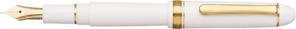 Platinum #3776 CENTURY Chenonceau White F - Penita Aur 14K 0