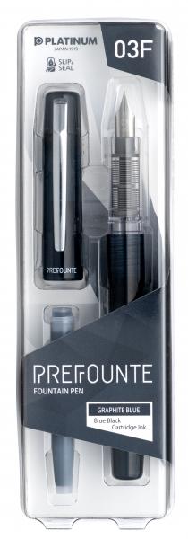 Platinum PREFOUNTE Graphite Blue F 2