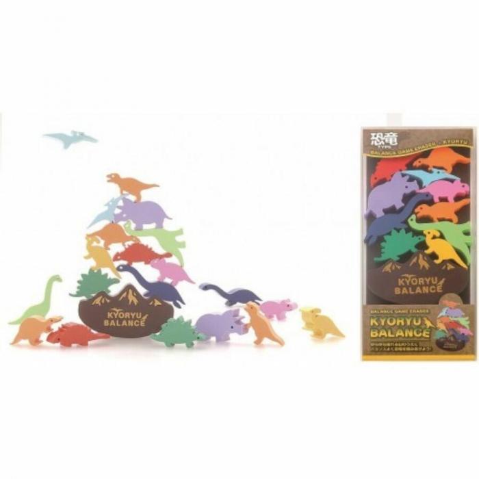 Set radiera dinozauri -  Balance Game Eraser Kyoryu [0]