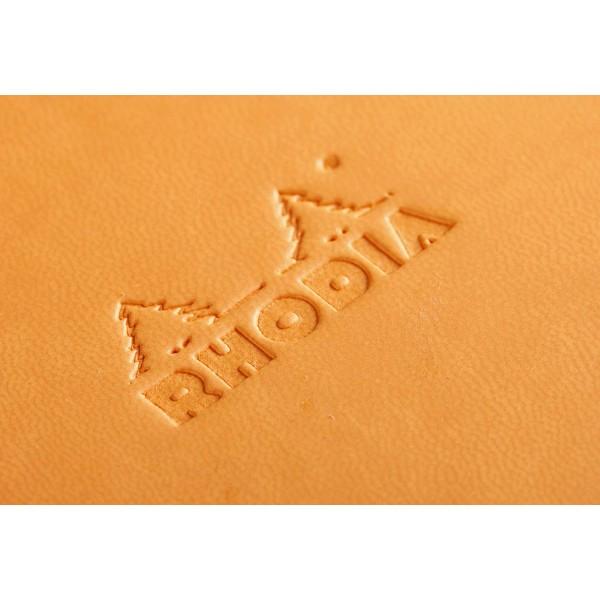 WebnoteBook RHODIA cu elastic, Orange A6, 96 file,velin 3