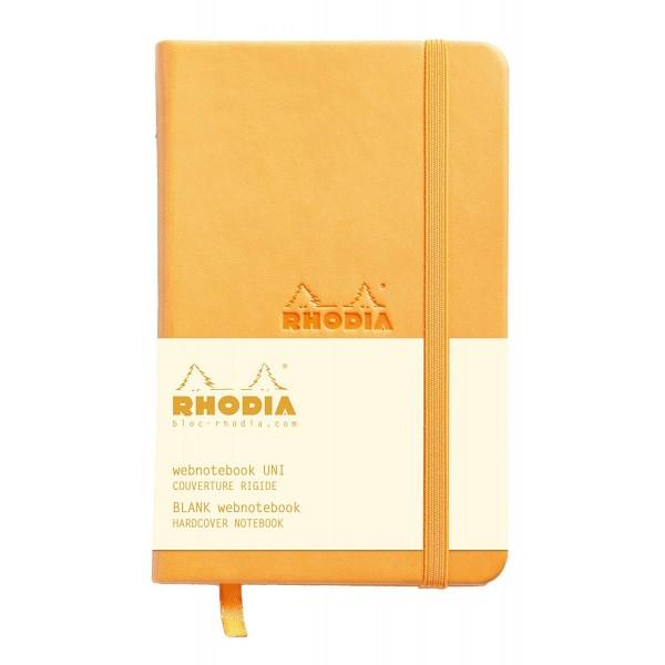 WebnoteBook RHODIA cu elastic, Orange A6, 96 file,velin 1