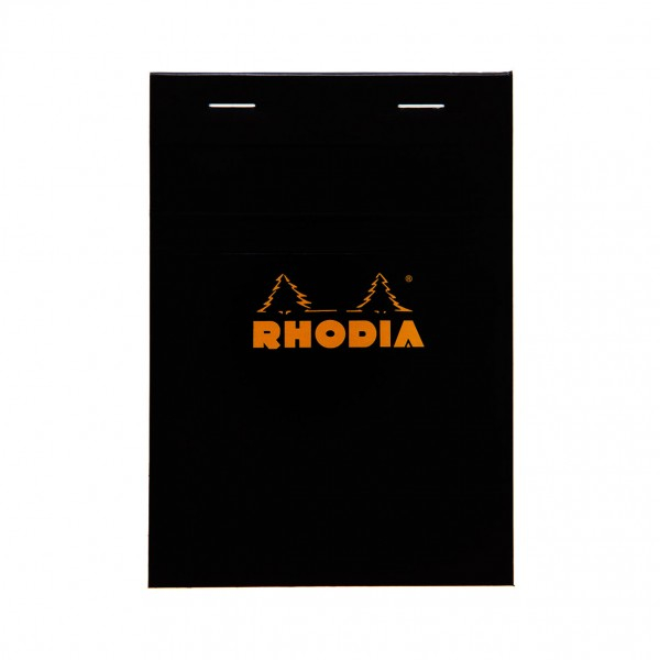 Blocnotes RHODIA No.13, Black A6, 80 file, patratele 0