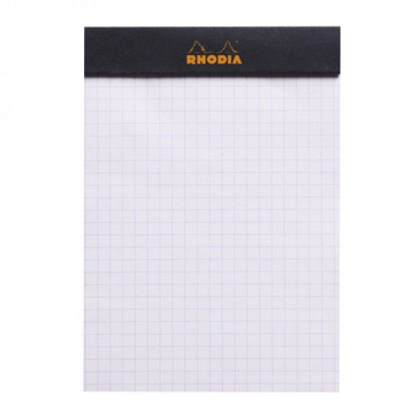 Blocnotes RHODIA No.13, Black A6, 80 file, patratele 2