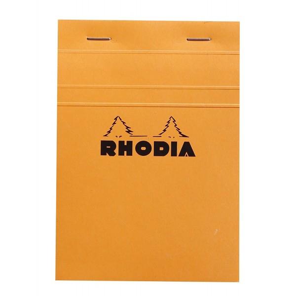 Blocnotes RHODIA No.13, Orange A6, 80 file, patratele 0