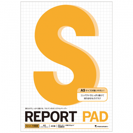 Blocnotes MARUMAN High Quality Report Pad P164, A5, 40 file, patratele [3]