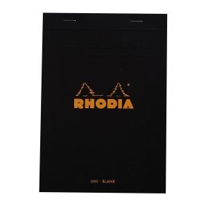 Blocnotes RHODIA No.16, Black A5, 80 file, velin0
