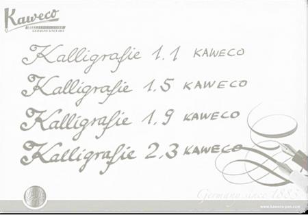 Set Kaweco CALLIGRAPHY Negru (1.1 /1.5 /1.9 /2.3)1