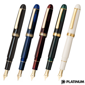 Platinum #3776 CENTURY Chartres Blue M - Penita Aur 14K7