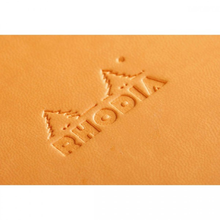 WebnoteBook RHODIA cu elastic, Orange A6, 96 file,velin3