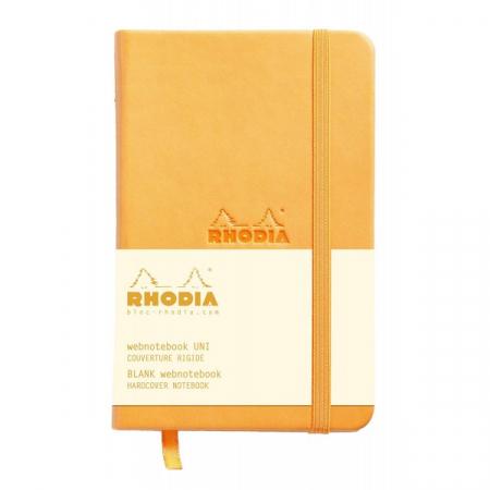 WebnoteBook RHODIA cu elastic, Orange A6, 96 file,velin1